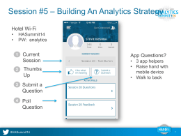 Slides - Healthcare Analytics Summit