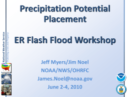 Model-Derived Precipitation Potential Placement