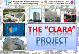 CLARA - National Institute for Laser, Plasma and Radiation Physics