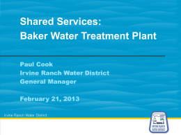 Paul Cook – Shared Services: Baker Water Treatment Plant
