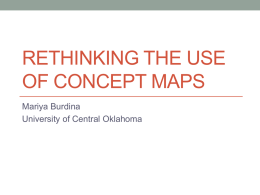 Rethinking the use of Concept maps