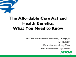 Presentation - AFSCME 41st International Convention