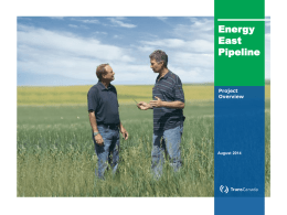 Energy East Pipeline - Ontario Energy Board
