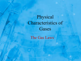 Gas Laws - Madison Public Schools