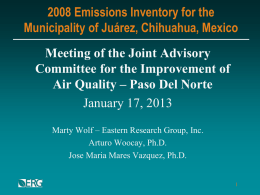 Point Source Emissions Inventory in Cd. Juarez.