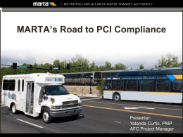 MARTA`s Road to PCI Compliance