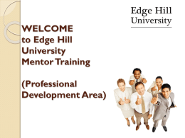 Mentor - Edge Hill University