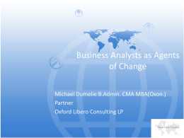 Business Analysts as Agents of Change