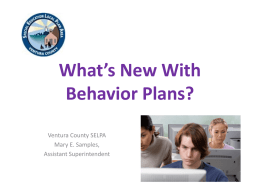 What Happened to the Positive Behavior Support Plans?