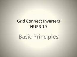 Grid Connect Inverters basic principles 100809 200920