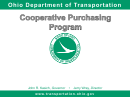 Cooperative Purchasing Presentation