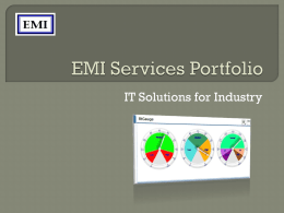 EMI Services Portfolio - Engineering and Marketing International SAL