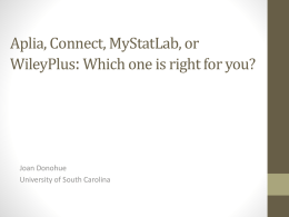 Comparing Aplia, Connect, MyStatLab & WileyPlus