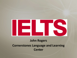 IELTS: Tips and Strategies - PDQC
