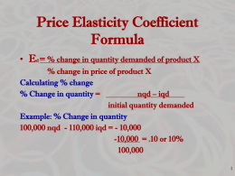 Micro Ch 6 - Product markets and Elasticity