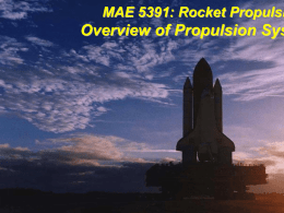 Propulsion System Overview