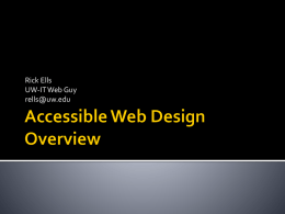 Accessible Web Design Overview