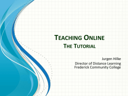 Teaching Online: Manual - Courses