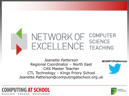 Computational Thinking – PPT Jeanette Patterson