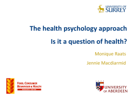The health psychology approach