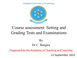 Assessment - Chinhoyi University of Technology