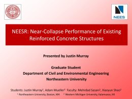 Near-Collapse Performance of Existing Reinforced Concrete
