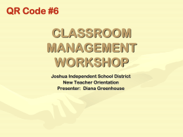 CLASSROOM MANAGEMENT - Harry K Wong Publications