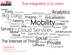 Tony Bezuidenhout - True integration A 5 year vision