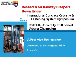 Railroading Down Under - RailTEC - University of Illinois at Urbana