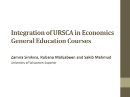 Integration of URSCA in economics general education courses