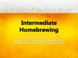 Intermediate Homebrewing