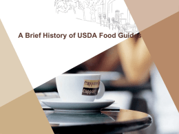 History of Food Guides