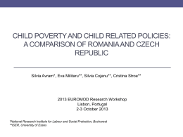 Tackling child poverty in Romania by learning from other countries