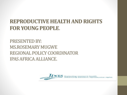 Youth Reproductive Health and Rights