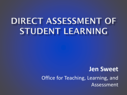 Direct Assessment in Student Affairs