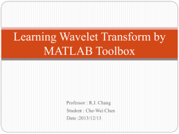 Learning Wavelet Transform by MATLAB Toolbox