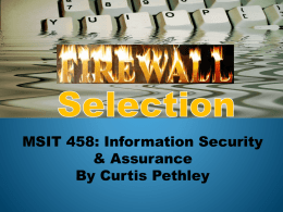 Selecting a Firewall