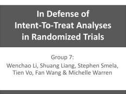 Intention-To-Treat Analysis in Randomized Trials