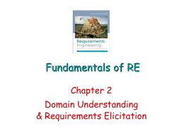 Fundamentals of RE - Seidenberg School of Computer Science and