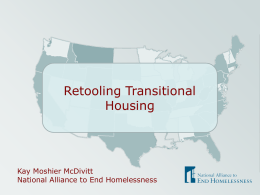 Shifting Transitional Housing Programs to Rapid Re