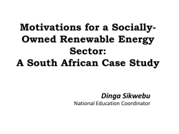 Powerpoint - Trade Unions for Energy Democracy
