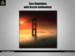 Zero Downtime with GoldenGate