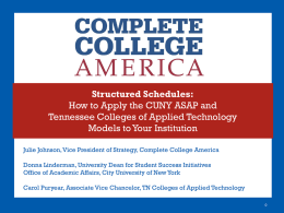 Powerpoint - Complete College America
