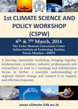 Joint Session (Science –Policy)