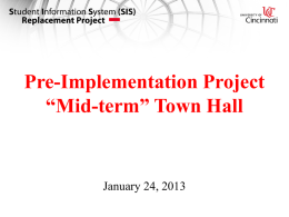 Jan. 24, 2013, Town Hall presentation