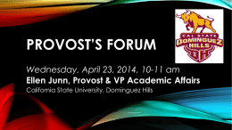 Open Forum Presentation [ppt] - California State University