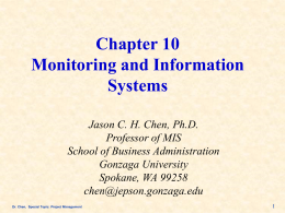 Ch10:Monitoring and Information Systems