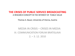 the crises of public service broadcasting