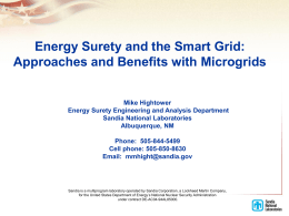 Energy Surety and the Smart Grid