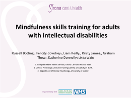 Mindfulness skills training for adults with intellectual disabilities